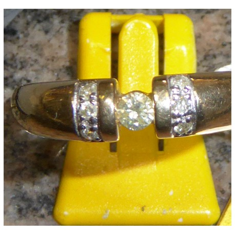 Brilliant Ring 585 Gelbgold